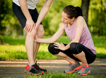 Helping hand - knee injury